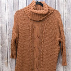 NWT Express Brown Cowl Neck Chunky Knit Sweater S